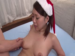 Miki Aimoto insane Japanese blow job on Christmas