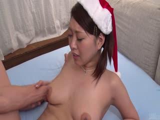 Miki Aimoto insane Japanese blow job on Christmas